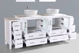 84 inch double sink bathroom vanities contemporary 84 inch white round vessel double sink small basement