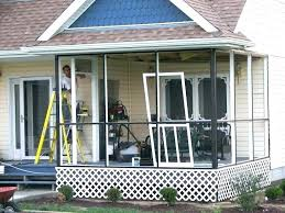 diy screen porch screened porch cost build on existing deck kit