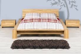 Oak Bed James Low Contemporary Design Solid Oak Bed