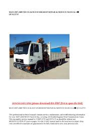 calaméo man 1997 2009 truck u0026 bus workshop repair u0026 service m