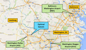 Washington Dc Area Map by Optimal Satcom Headquarters Optimal Satcom Corporate Website
