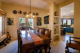 Dining Room With Hardwood Floors  French Doors In Santa Fe NM - Dining room with french doors