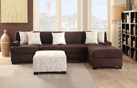 furniture ethan allen sectional sofas in brown with ottoman also