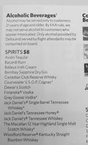 Southern Comfort Reserve Airline Drink Menus Alcademics