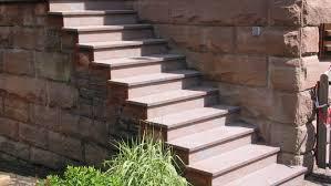 treppen im au enbereich naturstein treppen außen