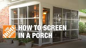 How To Frame A Door Opening How To Screen In A Porch Installing A Screen Tight Porch System
