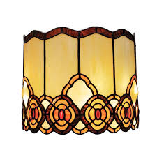 Battery Wall Sconce Lighting Battery Operated Wall Sconce In Tiffany Style Art Glass Touch Of