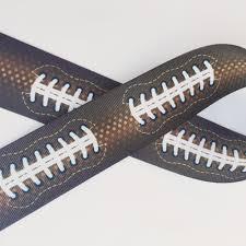 football ribbon football stitch ribbon and bows oh my