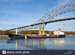 ocean bridge ship tanker in dry dock after an explosion at port