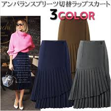 Wool Skirts For Winter Holic Rakuten Global Market Unbalanced Lenght Classic Rap Style