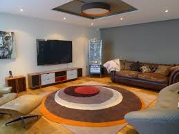 living room rug ideas floor lamp chocolate couch cabinet between