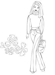 photo barbie coloring pages fans barbie movies colour