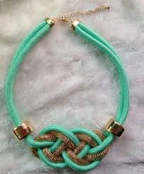 wholesale light green rope chain statement necklace yiwuproducts