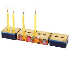 buy yair emanuel 2 in 1 hanukkah menorah and shabbat candles set