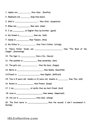 degrees of adjectives worksheets grade 2 245 free adjectives