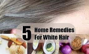 best home remedies to turn white gray color hair to black in one