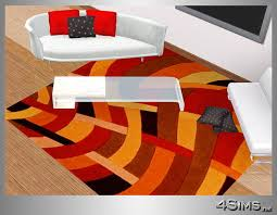 Square Modern Rugs Square Modern Rugs In 5 Contemporary Designs For Sims 3 By 4sims