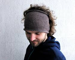 hair bands for men knitted mens headband hat guys knit hair wrap unisex adults
