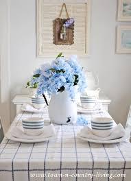 spring dining room in blue and white town u0026 country living