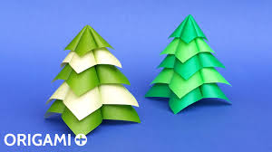 origami quick and easy christmas tree