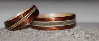 wood engagement rings koa wood engagement ring with birch and zebra wood inlays