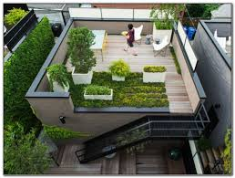 Deck Roof Ideas Home Decorating - this roof deck is just a flat extension from the house radical