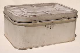 vintage metal bread box tin u0026 kitchen canisters retro fixer