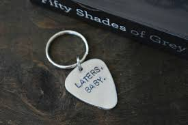 laters baby keychain sted laters baby aluminum keychain 50 shades of grey