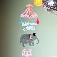 bricolage chambre bébé mignon éléphant de bande dessinée cirque bricolage sentait ornements