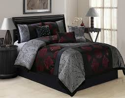 Gray And Red Bedroom by Bedroom Beautiful Gray Red Comforter Sets For Queen Bed High