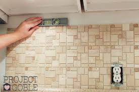 How To Install A Peel  Stick Mosaic Tile Kitchen Backsplash - Peel on backsplash