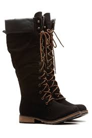 s boots calf length black faux leather calf length mountain boots cicihot boots