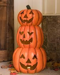 led carved pumpkins balsam hill