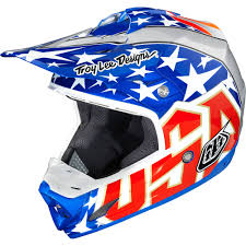 blue motocross helmet troy lee designs 3x jeff ward replica se3 mx motorcycle helmet