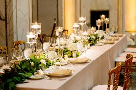 Candle Centerpiece Wedding Greenery Garland And Candle Centerpiece Elizabeth Anne Designs