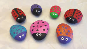 Painted Rocks For Garden by Painted Garden Rocks Youtube
