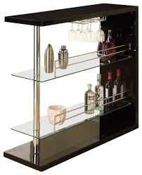 bar table with wine rack rattan bar table houzz