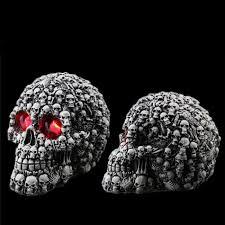 buy decoration creative terror props resin skull