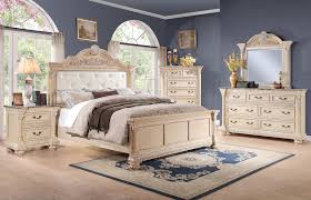 Antique White Furniture Bedroom 4 Pc Homelegance Russian Hill Bedroom Set In Antique Whitewash