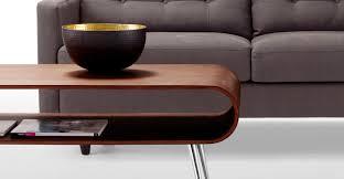 hooper storage coffee table in walnut made com