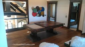 Peter Vitalie Pool Table by Rustic Table Rustic Pool Tables Rustic Dining Table Rustic