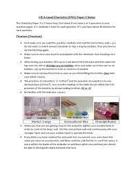 cie chemistry 9701 as a level paper 3 notes titration