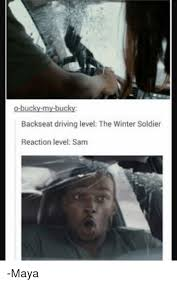 Winter Soldier Meme - o bucky my bucky backseat driving level the winter soldier