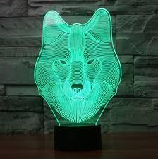 3d lamp 3d optical illusion wood lamp night light warm white