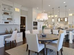 dining room with crown molding u0026 pendant light in scarsdale ny