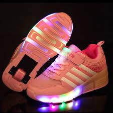 light up shoes for girls children glowing sneakers kids roller skate shoes children led light