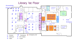 Floor Plan Room by Library Floor Plans Maps And Directions Tcu Mary Couts Burnett