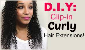 Hair Extension Clips by How To Make Clip In Curly Hair Extensions Youtube