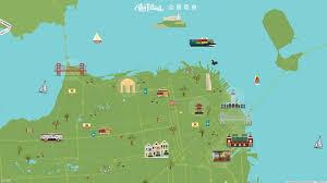San Francisco On A Map by