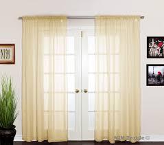 peach sheer voile curtains